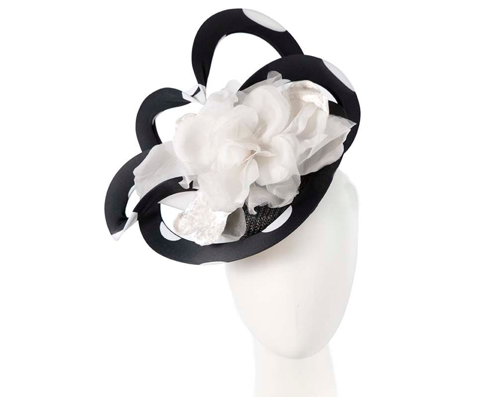 Unusual black & ivory Fillies Collection fascinator