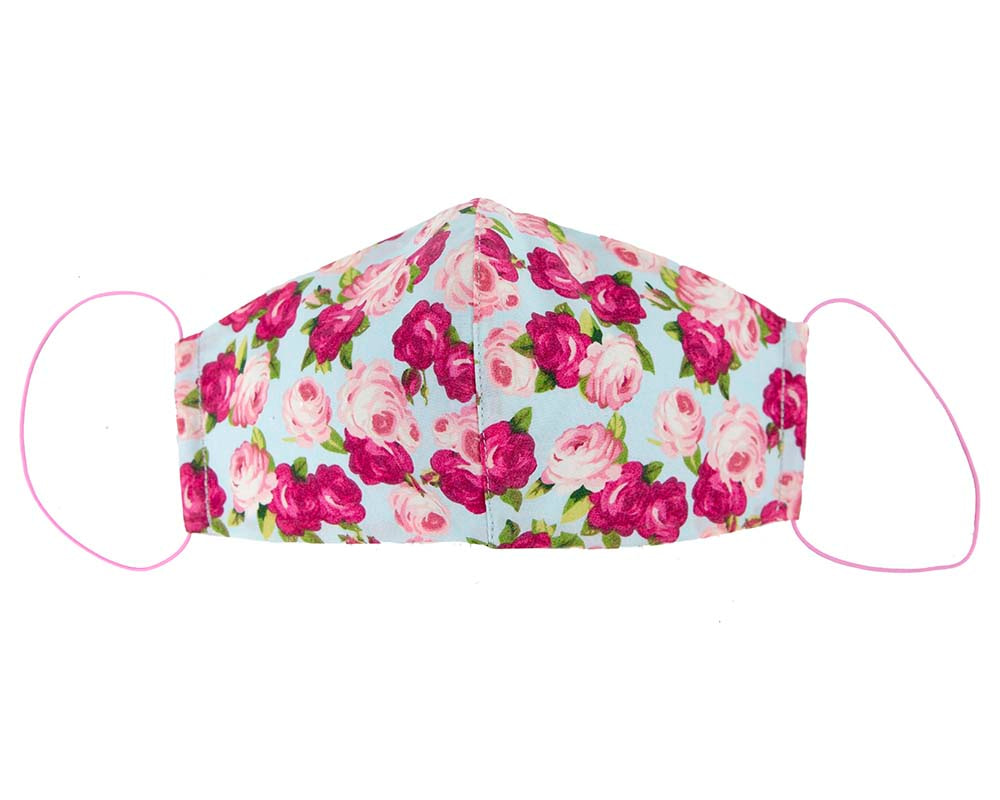 Comfortable re-usable cotton face mask roses