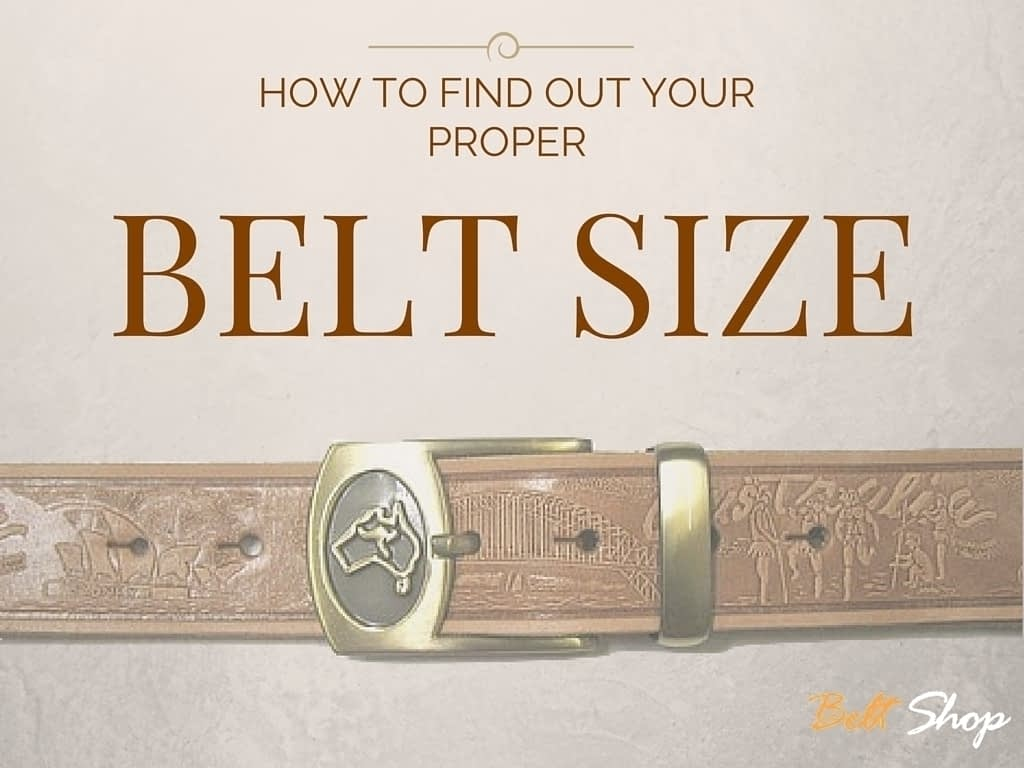 Belts From OZ - how to measure for the proper belt size