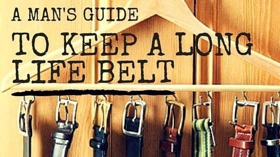 How to car for leather belt