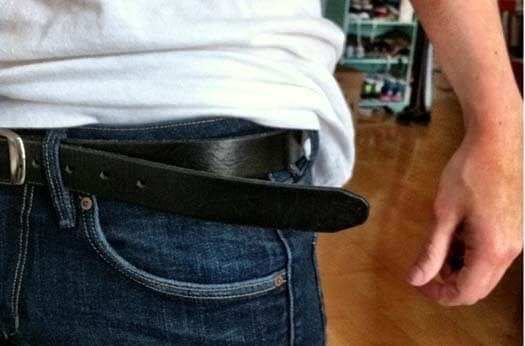 How not to wear mens belt