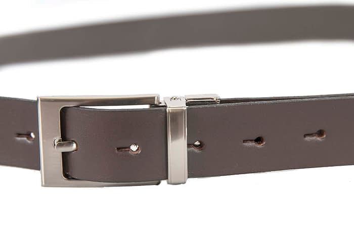 Belts From OZ - 30 6890 brown belt buckle closed