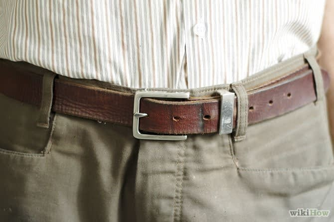 Perfect fit mens leather belt