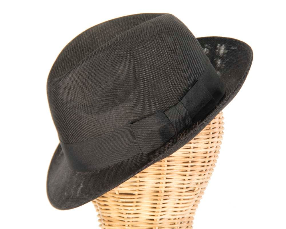 Black summer fedora hat