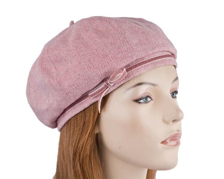 Pink winter beret SP375