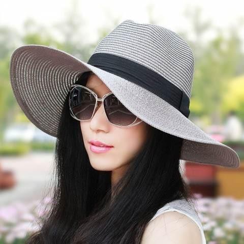 Black wide brim floppy hat with white flower buy online in Aus SP020