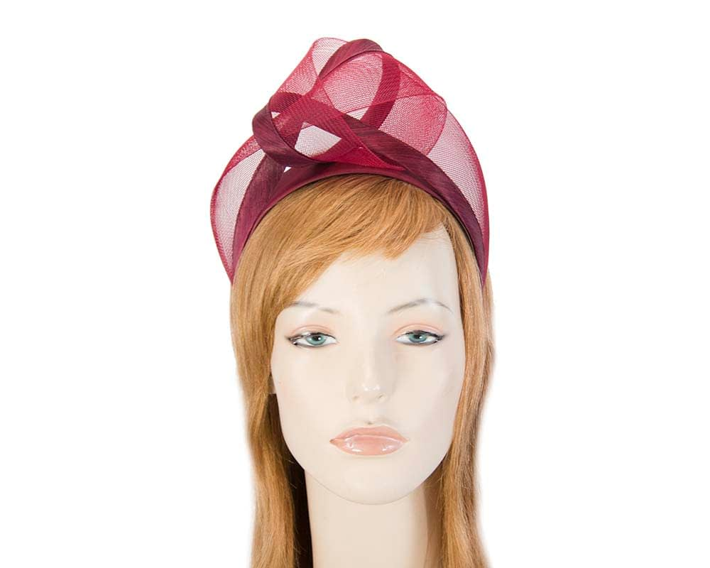 Burgundy fashion headband turban by Fillies Collection